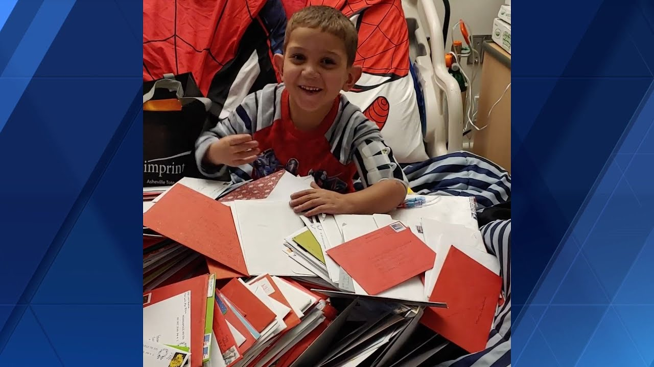 Thank You Boy In Hospital Receives Thousands Of Christmas Cards Youtube