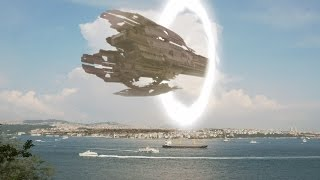 UFO mothership arrives in Turkey through Interdimensional Portal ! ...