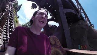 Ricky Brigante rides Seven Dwarfs Mine Train at Walt Disney World