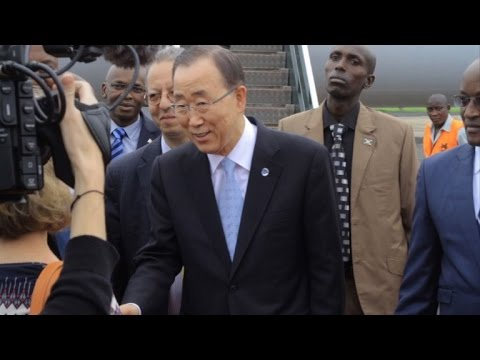UN chief Ban Ki-moon visits troubled Burundi