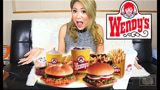 TRYING THE ENTIRE VALUE MENU FROM WENDY'S   WENDY'S   (MUKBANG)