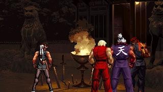 The Real Satsu ● Yuri Sakazaki vs V. Ken, E. Ryu & Shin Akuma
