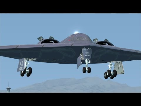 FSX B-2 Whiteman AFB to Nellis AFB for Red Flag [AWESOME GRAPHICS]