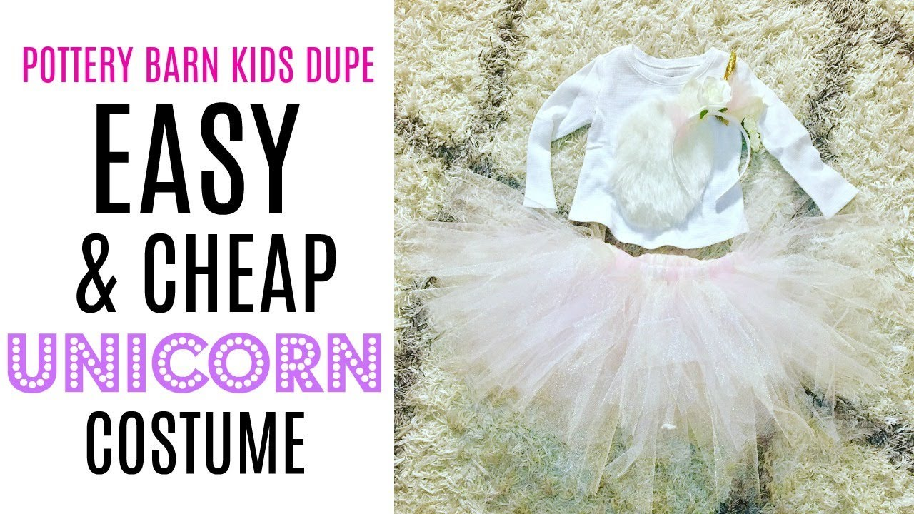 d1086e0d847c5 DIY Unicorn Costume Tutu for Toddlers, Babies, or Adults! - YouTube