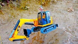중장비 장난감 모래놀이 포크레인 맥퀸 구출작전 인기영상 모음 Excavator Truck Toy for Kids Car Video