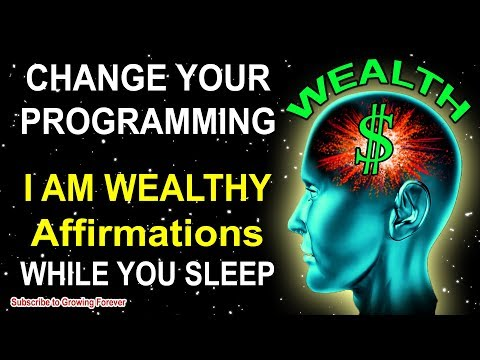 ★POWERFUL★ WEALTH Affirmations while you SLEEP!!  Program Your Mind Power for ABUNDANCE!!