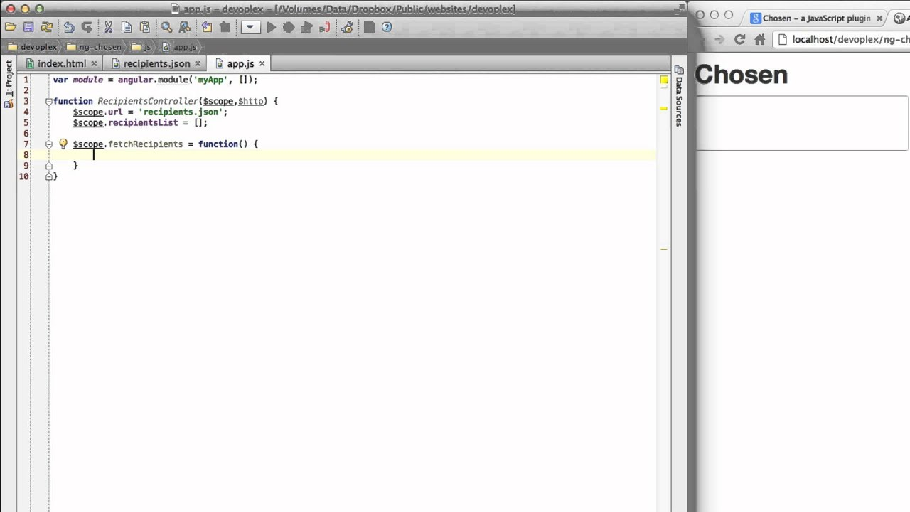 AngularJS + Chosen Plugin = Awesome - One Hungry Mind