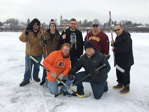 Pond Hockey Shooting Game of 'PUCK' With the Townsquare Duluth Radio Team
