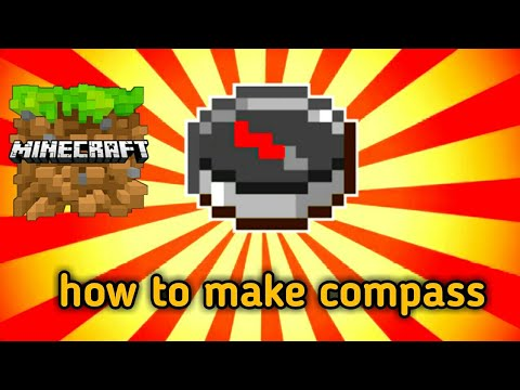 how-to-make-compass-in-minecraft-||-minecraft-pe