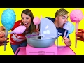 GIANT COTTON CANDY MACHINE!!! DIY How To Make Cotton Candy Cart Maker by DisneyCarToys