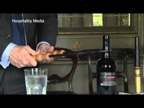 How to open a bottle of Vintage Port with a feather.
