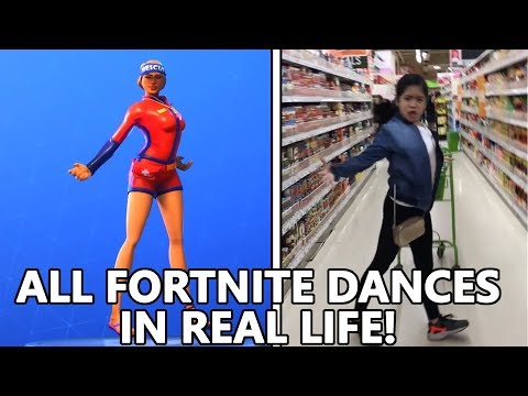 ALL *NEW* FORTNITE DANCES IN REAL LIFE VIVACIOUS HITCHHIKER & MORE