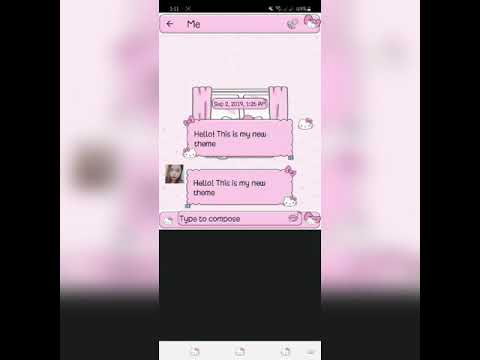 Hk Pink Yoga Go Sms Pro Theme For Android Phones
