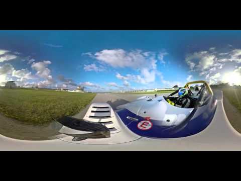 4K 360 Virtual Reality onboard ride around Bushy Park, Barbados in a Radical SR3
