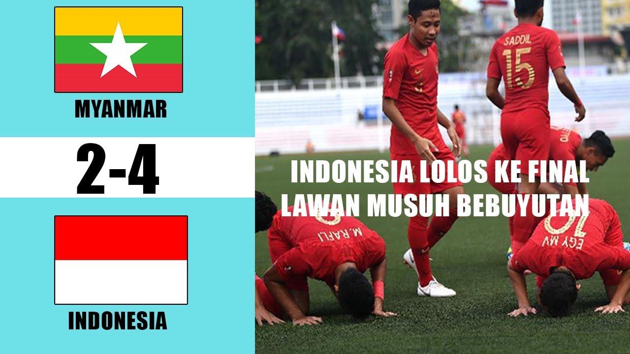 HASIL SEMIFINAL SEPAK BOLA SEA GAMES 2019 -- MYANMAR VS ...