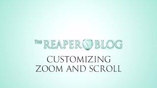 Параметри масштабування і прокручування в Reaper