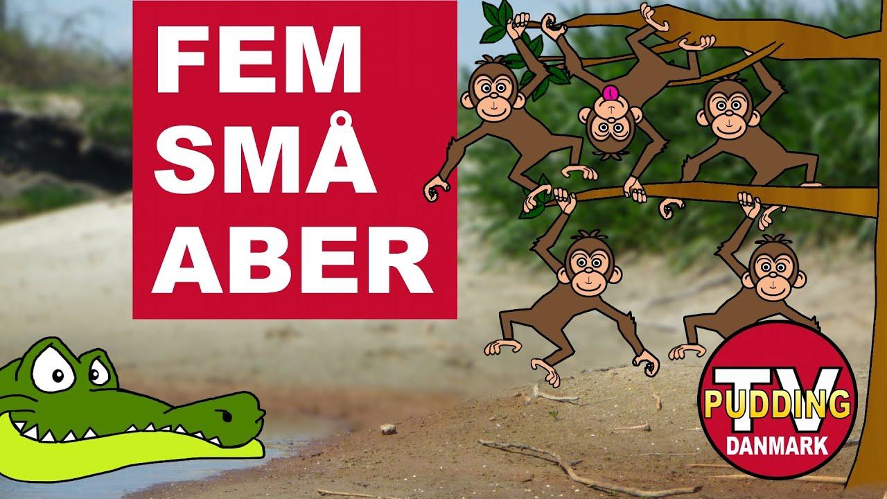 Fem små aber - Danske børnesange