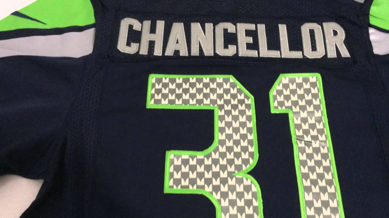 Nice Men's Seattle Seahawks Kam Chancellor #31 Green Salute To Service