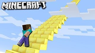 What's at the TOP of the LONGEST STAIRCASE in Minecraft?