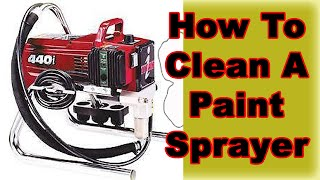how to properly clean or repair a paint sprayer titan spray painting. Black Bedroom Furniture Sets. Home Design Ideas
