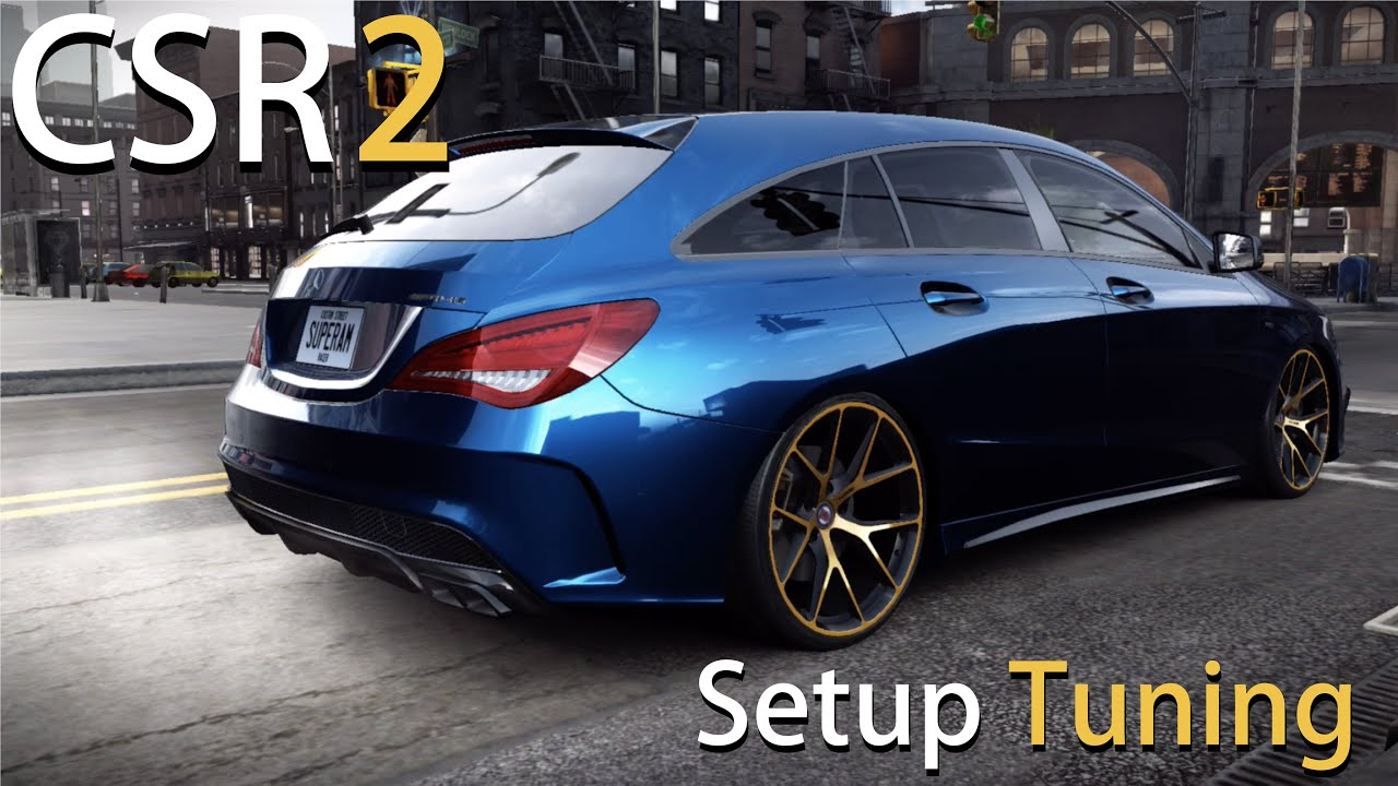 mercedes cla 45 amg setup tuning let 39 s play csr racing 2. Black Bedroom Furniture Sets. Home Design Ideas