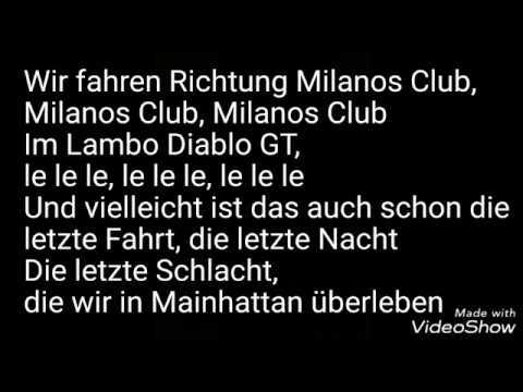 CAPO - Lambo Diablo GT feat. Nimo lyrics
