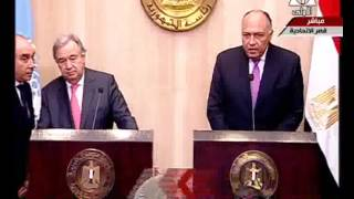 فيديو..وزير الخارجية:مصر تشجع الحوار بين الحكومة السورية والمعارضة