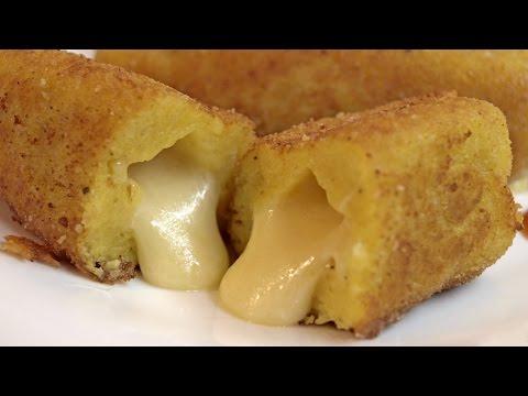Картофельные палочки с сыром / Cheese-filled potato sticks ♡ English subtitles
