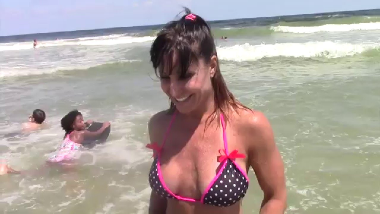 Almost 50 Year Old Giant Beauty In Bikini At The Beach