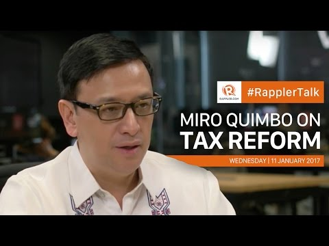 Rappler Talk: Miro Quimbo on tax reform