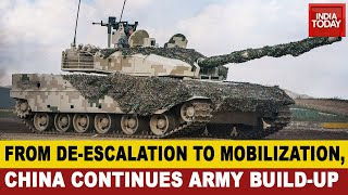 India-China Standoff: China Contİnues Army Build-Up, Deploys Artillery And Armoured Units