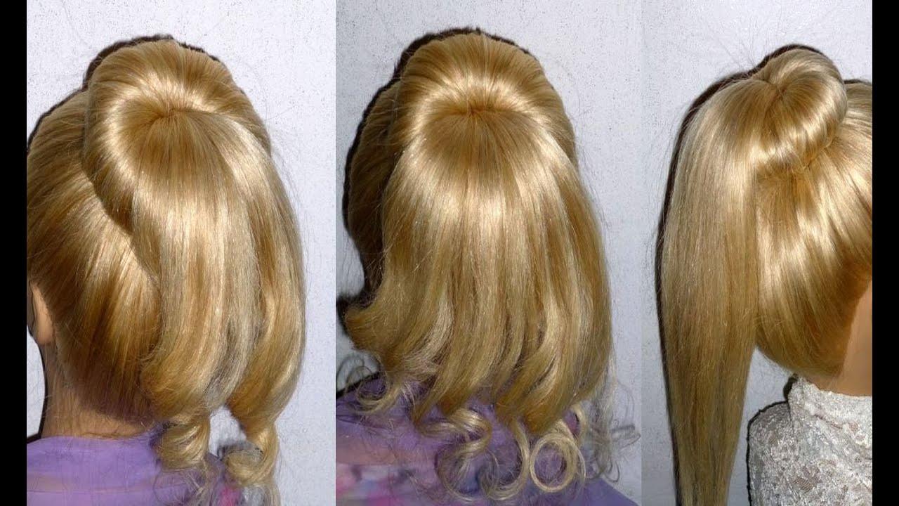 Donut Hair Bun Updo Hairstyle Tutorial Hair Bun With A Ponytail