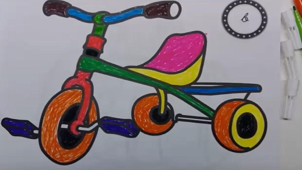 Bisiklet Boyama Sayfası çocuklar Için Renk öğrenin Youtube