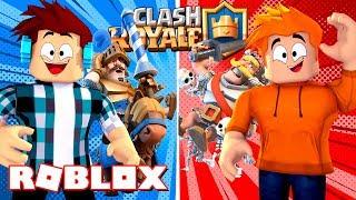 Roblox - MAIOR BATALHA DE CLASH ROYALE NO ROBLOX !!