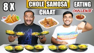 CHOLE SAMOSA CHAAT EATING CHALLENGE   Chaat Eating Competition   Food Challenge