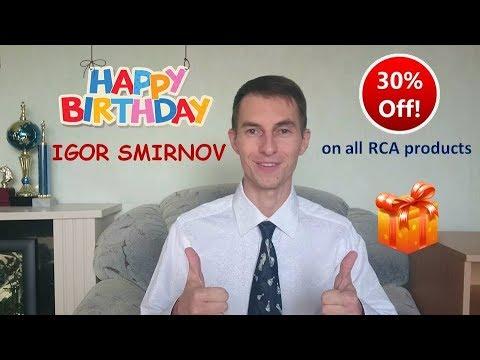 GM Igor Smirnov's 30th birthday