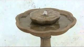Campania International Flores Bird Bath/pedestal Fountain