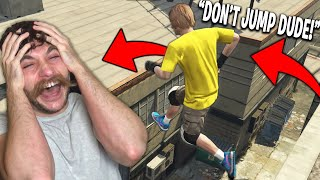 Funniest Parkour Fail in GTA 5 Heist