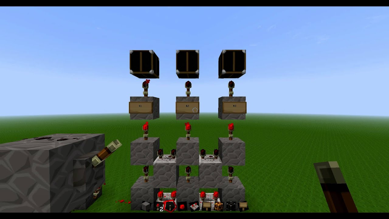 minecraft how to make a redstone lamp circuit