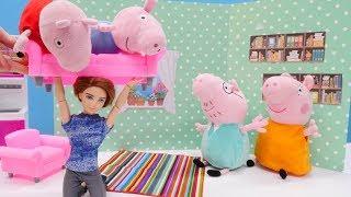 Свинка Пеппа онлайн - Плюшевые игрушки - Няня для Пеппы