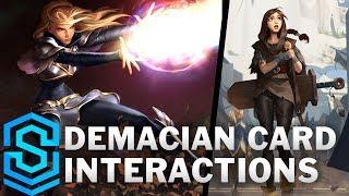 Demacian Card Special Interactions - Garen, Lux, Fiora, Lucian etc