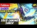 Solo Laning Saber    Fabiens Saber Gameplay And Build  1 Mobile Legends