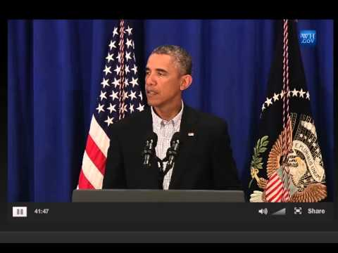 President Obama speaks about Ferguson Shooting of Mike Brown 8/14/14