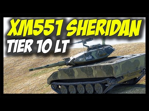 ► XM551 SHERIDAN, Tier 10 USA Light Tank - World of Tanks XM551 Sheridan Gameplay