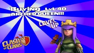 Clash of clans - Buying Lvl 40 Archer Queen (300k special)