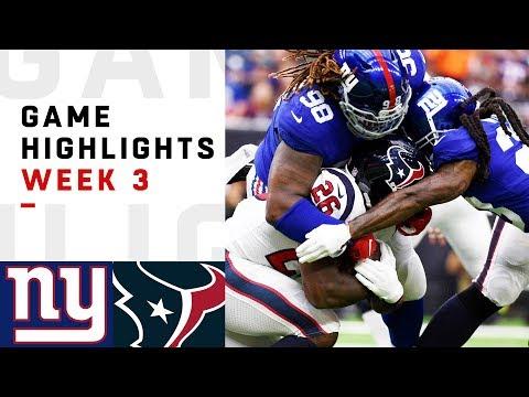 Giants vs. Texans Week 3 Highlights | NFL 2018