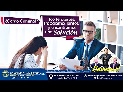 ¿Cargo Criminal? Llámanos.- Community Law Group, PLLC. Abogados de la comunidad