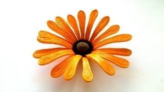 3D Quilling Flowers Tutorial- How to make 3D Quilling Flower-Paper Art Quilling.