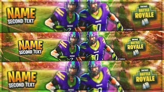 [FREE] BANNER FORTNITE TEMPLATE NFL FOOTBALL SKINS (SEASON 6) !!!