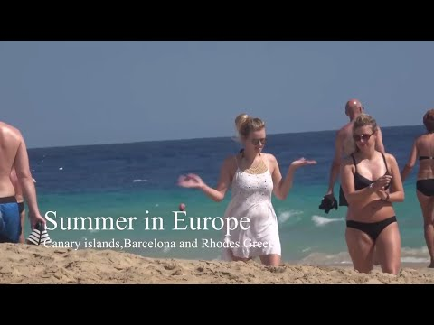 Summertime beaches of Europe 4K